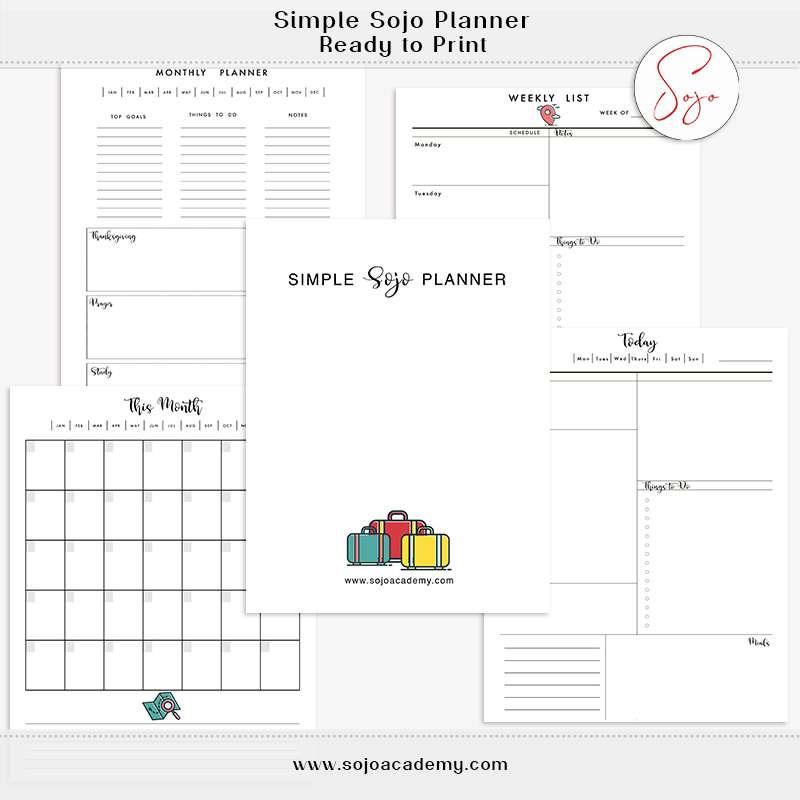 Simple Sojo Planner: BONUS