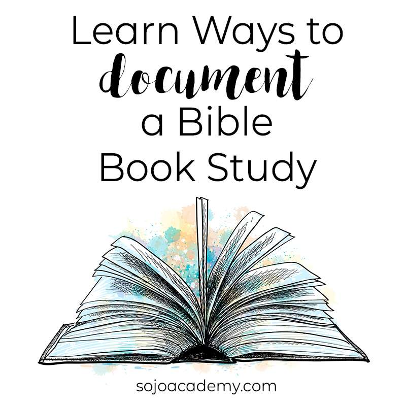How to Document a Bible Book Study